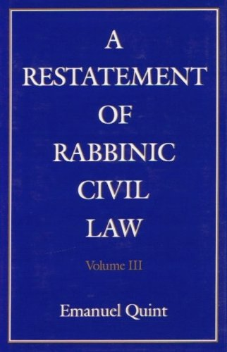 9780876683965: 003: A Restatement of Rabbinic Civil Law: Laws of Pleading