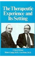9780876684054: The Therapeutic Experience and Its Setting: A Clinical Dialogue (Therapeutic Experience & Settin C)