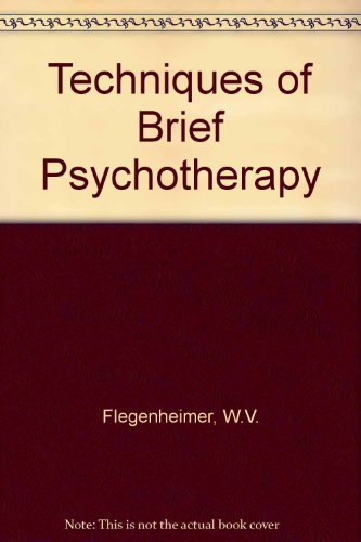 9780876684962: Techniques of Brief Psychotherapy