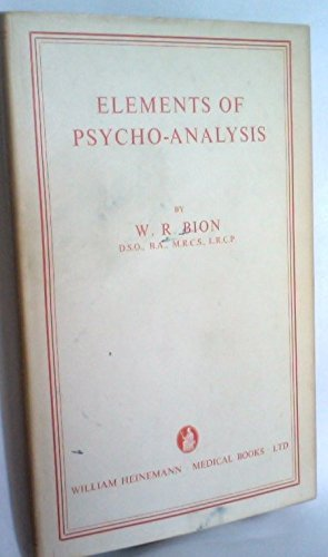 9780876687161: Elements of Psycho-Analysis