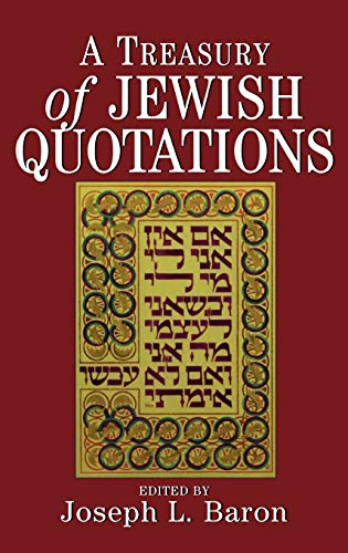 9780876688946: A Treasury of Jewish Quotations