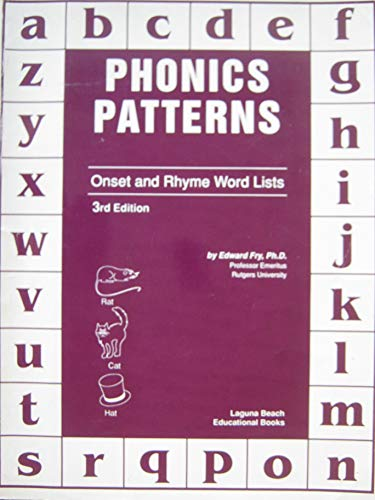 9780876730263: Phonics Patterns Onset & Rhyme Word Lists