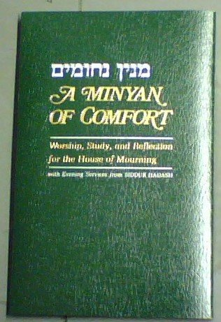 9780876770849: A Minyan of Comfort : Evening Services for the House of Mourning