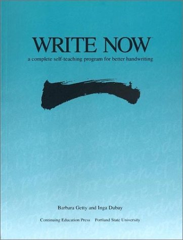 9780876780893: Write Now: A Complete Self-teaching Program for Better Handwriting