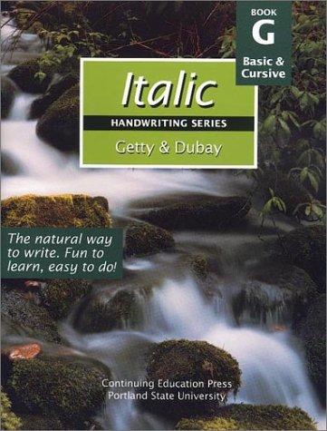 Italic Handwriting Series Book G: Barbara Getty