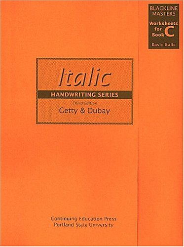 9780876781098: Getty-Dubay Italic Handwriting Series Blackline Masters Worksheets for Book C