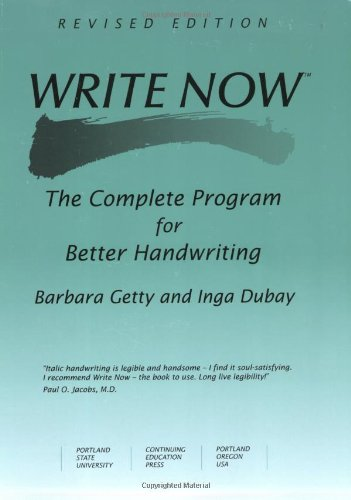 9780876781180: Write Now: The Complete Program For Better Handwriting