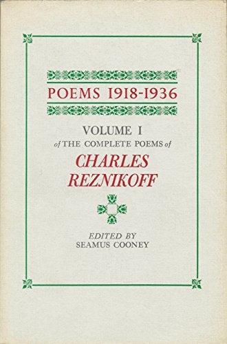9780876852613: Poems 1918-1936 (Volume 1)
