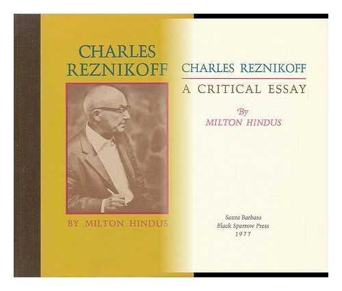 Charles Reznikoff: A Critical Essay: Hindus, Milton