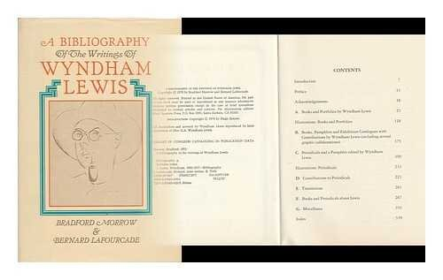 Bibliography of the Writings of Wyndham Lewis: Bradford Morrow, Bernard