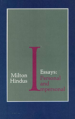 9780876857212: Essays: Personal and Impersonal