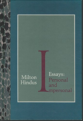 9780876857229: Essays: Personal and Impersonal