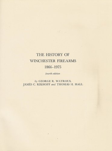 9780876912089: History of Winchester Firearms, 1866-1975
