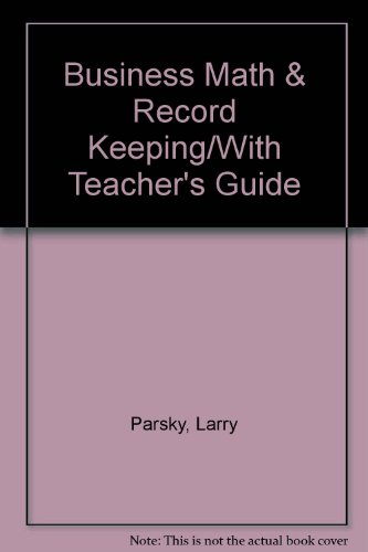 9780876944035: Business Math & Record Keeping/With Teacher's Guide
