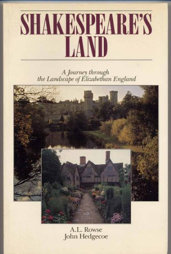 Shakespeare's Land (9780877014621) by A.L. Rowse