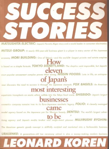 Success Stories (0877016356) by Leonard Koren
