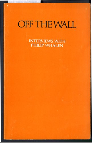Off the Wall: Interviews With Philip Whalen 9780877040361 Book by Philip Whalen