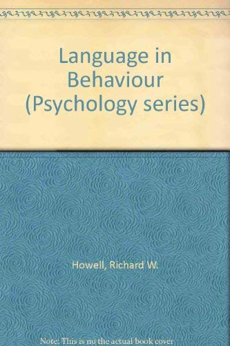 Language in Behaviour (Psychology series)