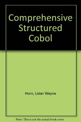 9780877098881: Comprehensive Structured COBOL, 3rd