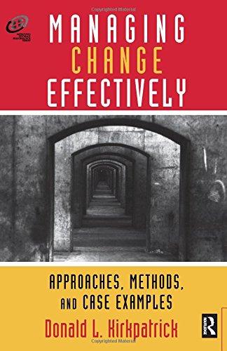 9780877193838: Managing Change Effectively (Improving Human Performance)