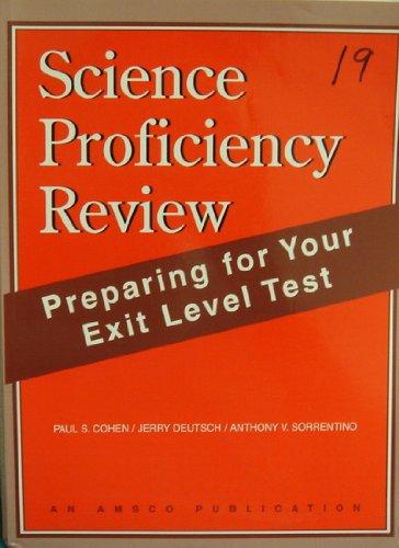 Science Proficiency Review: Preparing for Your Exit: Cohen, Paul S.;