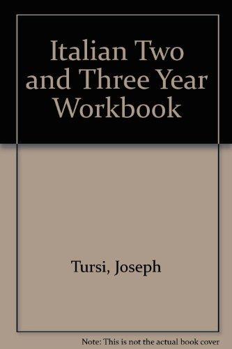 9780877200895: Italian Two and Three Year Workbook