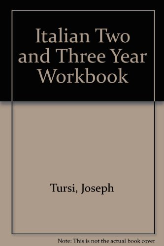 9780877200895: Italian Two and Three Year Workbook