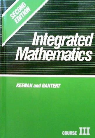9780877202783: Integrated Mathematics: Course III