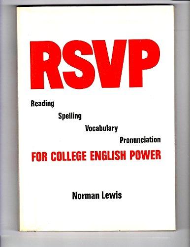 9780877204404: 1: Rsvp Reading Spelling Vocabulary Pronunciation