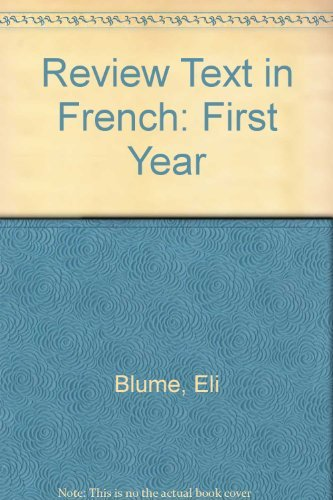 Review Text in French: First Year (French: Blume, Eli