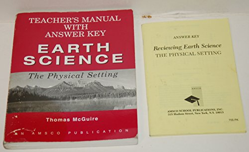 Earth Science: The Physical Setting Teacher's Manual with Answer Key: McGuire, Thomas