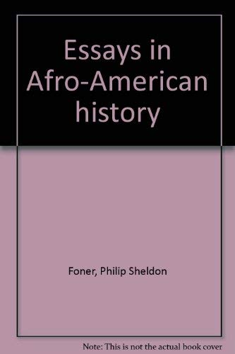 Essays in Afro-American history