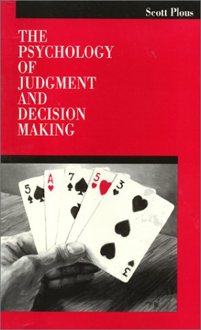 9780877229131: The Psychology of Judgment and Decision Making