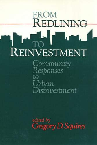 9780877229858: Redlining To Reinvestment (Conflicts in Urban and Regional Development)