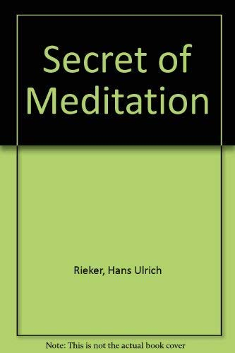 9780877282457: Secret of Meditation