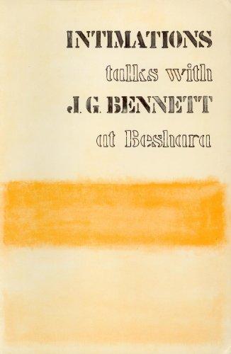 9780877283270: Intimations: Talks with J. G. Bennett