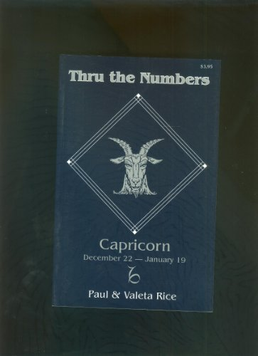 9780877285748: Capricorn: Thru the Numbers