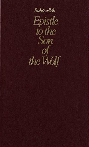 9780877431824: Epistle to the Son of the Wolf