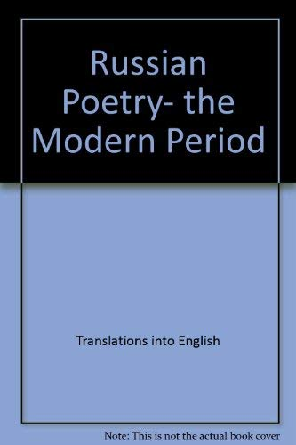 9780877450832: Russian poetry, the modern period (Iowa translations)