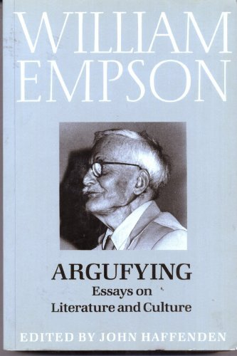empson essay literature renaissance william About william empson and the philosophy of literary criticism following the publication of seven types of ambiguity in 1930 william empson was quickly recognised as a critic of great originality and unique creative gifts and he has inspired a whole new method and style of approach in literary criticism.