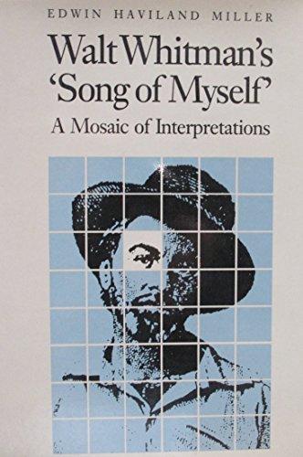 "9780877452270: Walt Whitman's ""song of myself"": A mosaic of interpretations"