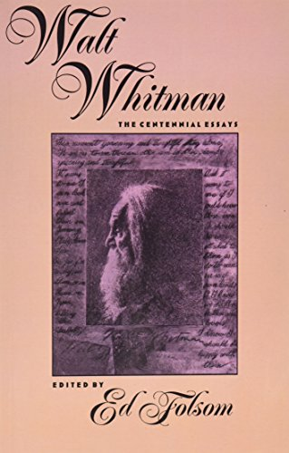 9780877454625: Walt Whitman: The Centennial Essays (Iowa Whitman Series)