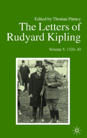 9780877458982: The Letters of Rudyard Kipling V5 1920-30