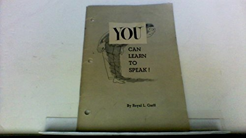 You Can Learn to Speak