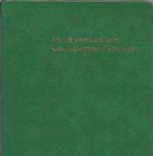 Loudspeakers and Loudspeaker Cabinets: Van Der Wal, P. W.