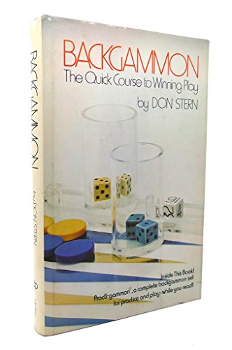 9780877495109: Backgammon: the quick course to winning play