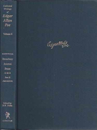 Writings in the Broadway Journal: Nonfictional Prose (Part 2): Edgar Allan Poe, Barton R. Pollin, ...