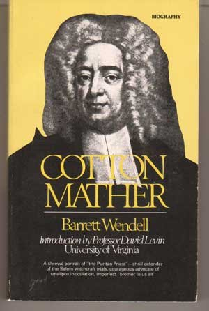 9780877541660: Cotton Mather (American men and women of letters series)