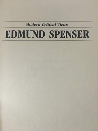 9780877546726: Edmund Spenser (Bloom's Modern Critical Views)