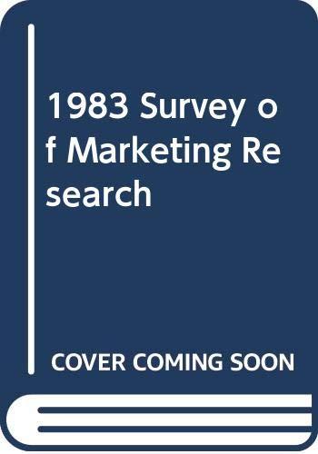 1983 Survey of Marketing Research: Dik W. Twedt